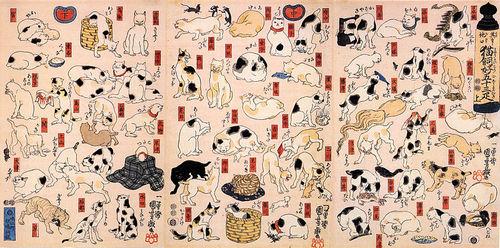 歌川国芳 其のまま地口猫飼好五十三疋800px-Cats_suggested_as_the_fifty-three_stations_of_the_Tokaido.jpgのサムネール画像